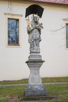 Sochy sv. Jana Nepomuckého, sv. Antonína Paduánského a Panny Marie Svatohorské ve Spáleném Poříčí