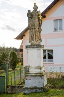 Socha sv. Barbory v Lipně